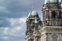 Berlin Cathedral. Towers of the Supreme Parish and Collegiate Church in Berlin Stock Image