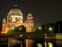 Berlin cathedral. At the spree night Stock Photo