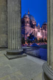 Berlin Cathedral Through Altes Museum Stock Images