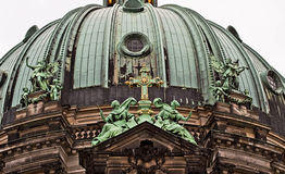 Berlin Cathedral:  architectural detail of the bronze dome Royalty Free Stock Images