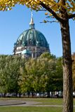 Berlin cathedral behind trees V2 Stock Photography
