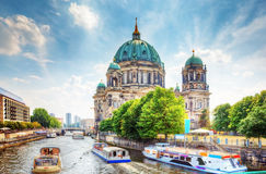 Berlin Cathedral. Berlijn, Duitsland Stock Afbeeldingen