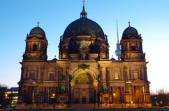 Berlin cathedral in berlin at blue our. The berlin cathedral in berlin at blue our Stock Photos