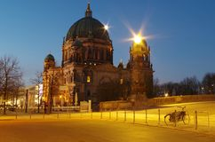 Berlin cathedral in berlin at morning. The berlin cathedral in berlin at morning Royalty Free Stock Image