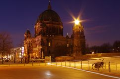 Berlin cathedral in berlin at morning. The berlin cathedral in berlin at morning Stock Photo