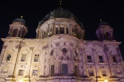 Berlin cathedral in berlin at night. The berlin cathedral in berlin at night Stock Photography