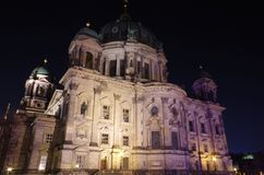 Berlin cathedral in berlin at night. The berlin cathedral in berlin at night Stock Images