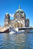 Berlin Cathedral, or Berliner Dom with a bridge across river Spr Royalty Free Stock Photography