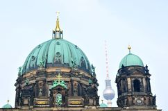 Berlin Cathedral (Berliner Dom) royalty free stock photos