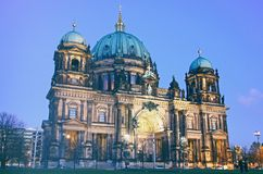Berlin Cathedral Berliner Dom at evening Royalty Free Stock Images