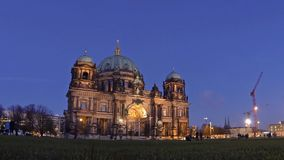 Berlin Cathedral (Berliner Dom) at evening, Berlin, Germany stock footage