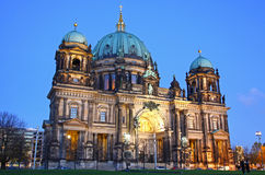 Berlin Cathedral (Berliner Dom) at evening Stock Photography