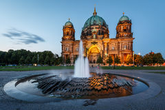 Berlin Cathedral (Berliner Dom) and Fountain Stock Image