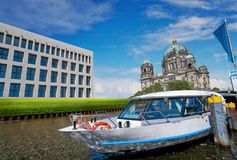 Berlin Cathedral Berliner Dom Germany. Berlin Cathedral Berliner Dom from Spree river in Germany Stock Images