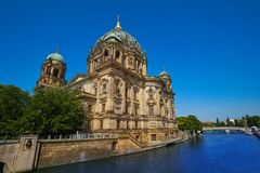 Berlin Cathedral Berliner Dom Germany. Berlin Cathedral Berliner Dom from Spree river in Germany Royalty Free Stock Photos