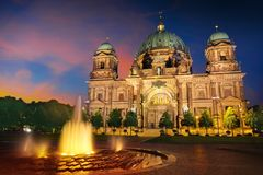 Berlin Cathedral Berliner Dom Germany. Berlin Cathedral Berliner Dom at sunset in Germany Royalty Free Stock Photos