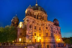 Berlin Cathedral Berliner Dom Germany. Berlin Cathedral Berliner Dom at sunset in Germany Stock Images
