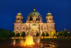 Berlin Cathedral Berliner Dom Germany. Berlin Cathedral Berliner Dom at sunset in Germany Royalty Free Stock Image