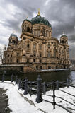 Berlin Cathedral in winter Royalty Free Stock Photo