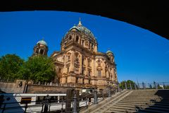 Berlin Cathedral Berliner Dom Germany. Berlin Cathedral Berliner Dom from Spree river in Germany Royalty Free Stock Image