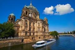 Berlin Cathedral Berliner Dom Germany. Berlin Cathedral Berliner Dom from Spree river in Germany Stock Image