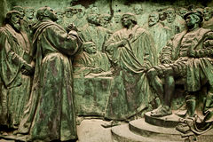 Berlin Cathedral, bronze bas-relief representing Martin Luther Royalty Free Stock Photos