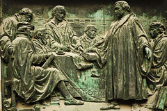 Berlin Cathedral, bronze bas-relief representing Martin Luther Stock Images