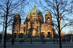 Berlin Cathedral Church Berliner Dom. Berlin Cathedral German: Berliner Dom is the short name for the Evangelical Supreme Parish and Collegiate Church Oberpfarr Stock Images