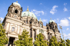 Berlin Cathedral Church. Berliner Dom - Berlin Cathedral Church in the middle of the day Stock Photos