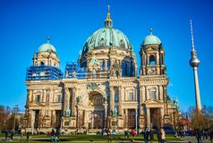 Berlin Cathedral Church, Duitsland stock foto
