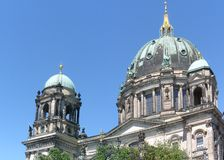 Berlin Cathedral. Detail of the dome of the Berlin Cathedral stock photos