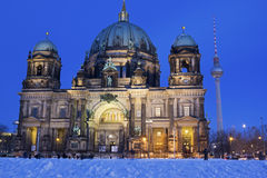 Berlin Cathedral at dusk Stock Photos