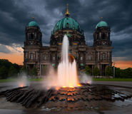 Berlin Cathedral in the evening Stock Photo