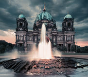 Berlin Cathedral in the evening Stock Photos