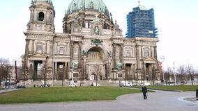 Berlin Cathedral exterior, hyperlapse