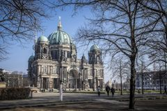 Berlin Cathedral in the winter. stock photography
