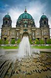 Berlin Cathedral and fountain Royalty Free Stock Image
