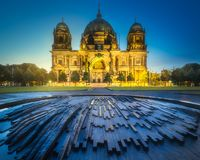 Berlin Cathedral and Fountain, Berliner Dom stock photos