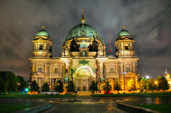 Berlin Cathedral, Germany. The beautiful Berlin Cathedral at night, Berlin Germany Stock Images