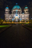 Berlin Cathedral illuminated by the lights of the illumination, Royalty Free Stock Photography