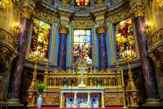 Berlin Cathedral Interior Tyskland Royaltyfri Foto