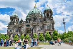 Berlin Cathedral - the largest Protestant church in Germany. Berlin Cathedral - the largest Protestant church in Germany on sunny day stock photos