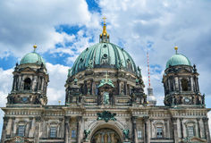 Berlin Cathedral - the largest Protestant church in Germany. Berlin Cathedral - the largest Protestant church in Germany on sunny day stock photo