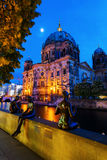 Berlin Cathedral on Museum Island in Berlin, Germany, at night Stock Photo