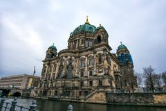Berlin Cathedral on Museum island in the German capital.  royalty free stock photography