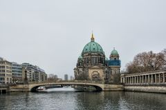 Berlin Cathedral on Museum island in the German capital.  stock photos