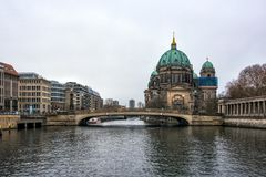 Berlin Cathedral on Museum island in the German capital.  stock image