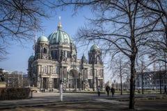 Berlin Cathedral nell'inverno fotografia stock