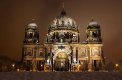 Berlin Cathedral at night. Berlin, Germany Stock Images
