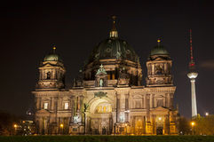 Berlin Cathedral at night. Berlin, Germany Stock Photo